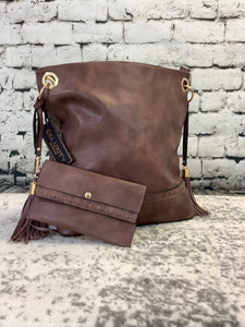 Deluxity Large Hobo Bag with Wallet
