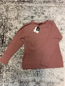 Very J long sleeve top dusty pink