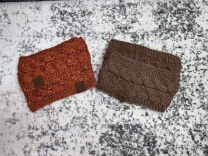 CC Beanie Headband (Brown)