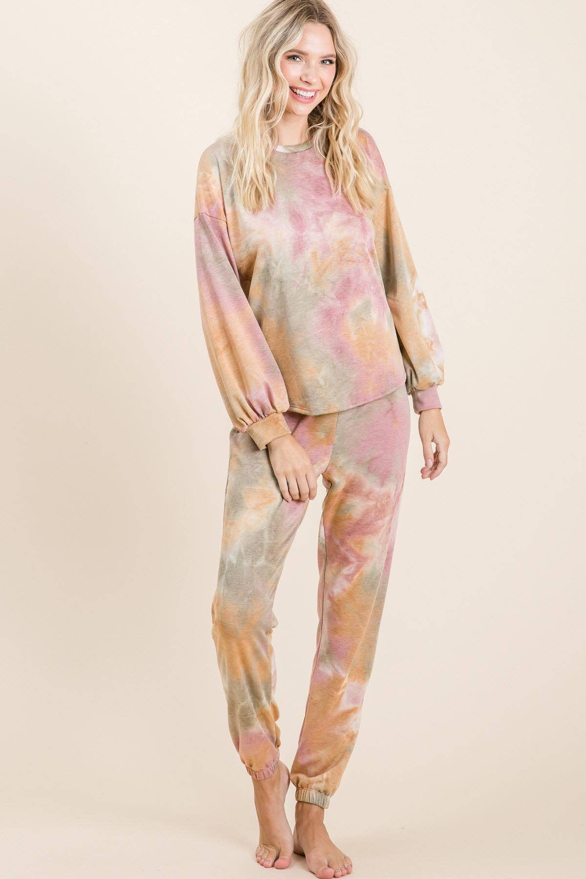 Tie dye lounge knit bottoms