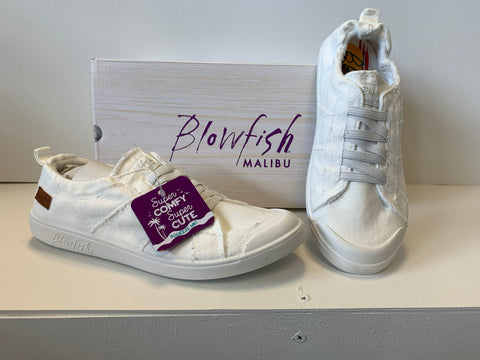 Blowfish White Canvas Slip on Shoe