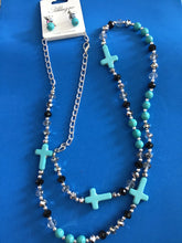 Load image into Gallery viewer, Beaded Cross Necklace
