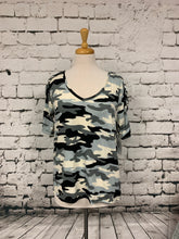 Load image into Gallery viewer, 1X Camo V-Neck Tee