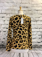 Load image into Gallery viewer, Simply Southern Waffle Top (Leopard Print)