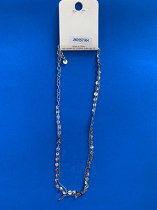 Metal Chain Necklace with Small Pendants