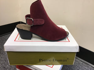 Burgundy Booties with Open Toe