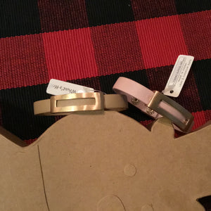 Snap Bracelet with Gold Rectangle