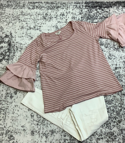 Umgee Round Neck Top (Rose)
