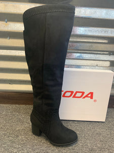 Soda Mention Black Boot