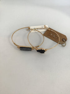 Gold Hinged Bracelet