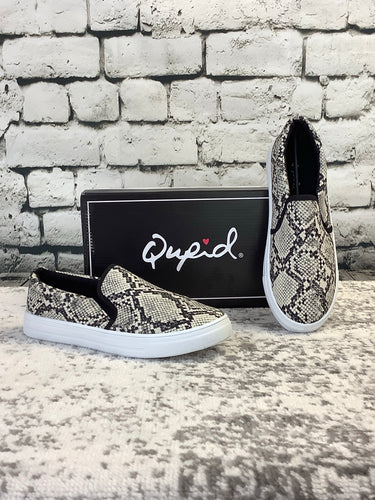 Qupid Snake Skin Sneakers