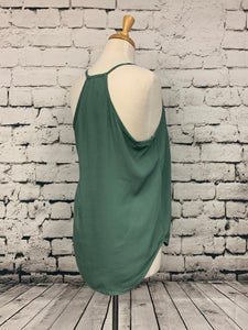 Final Touch Sage Sleeveless Top