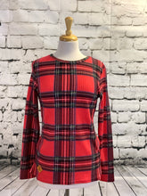 Load image into Gallery viewer, Simply Southern Waffle Top (Red Plaid)