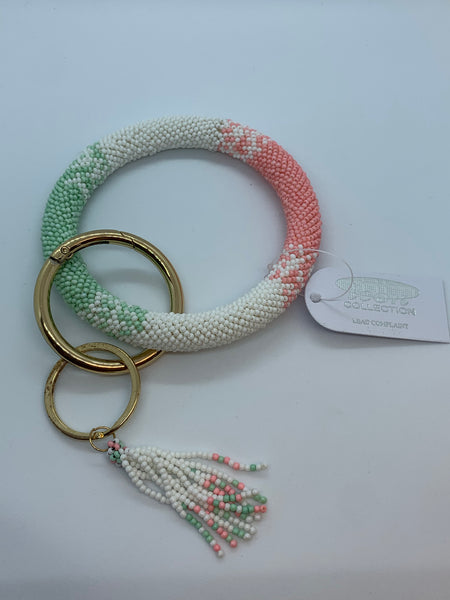 Beaded Bangle Keychain