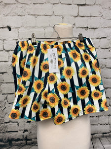 Crazy Train Sunflower Shorts