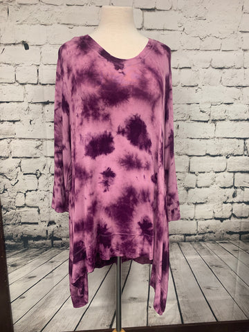 Allie and Rob Tie Die Hi Lo Tunic