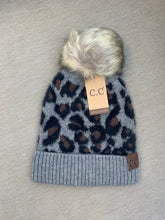 Load image into Gallery viewer, C.C Beanie Leopard with Pom