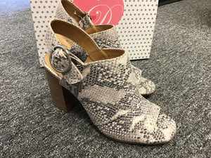 Snakeskin Sandal with Heel