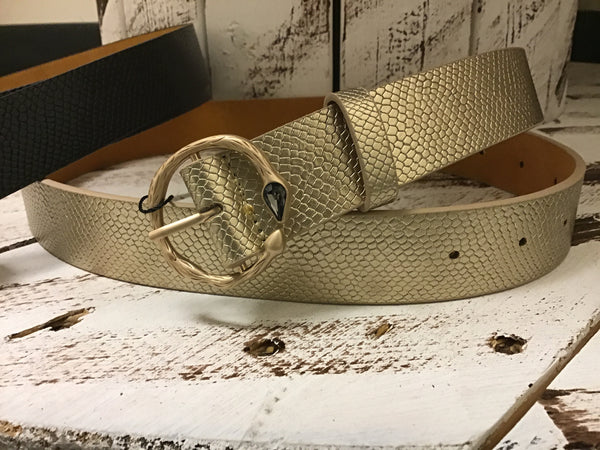 Diamond Snake Skin Belt