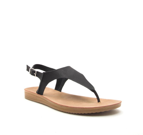 Qupid Black Casual Sandal