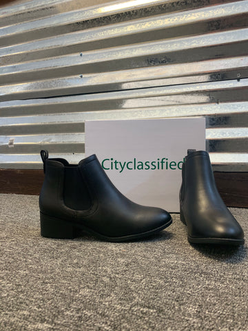 City Classified Black Bootie