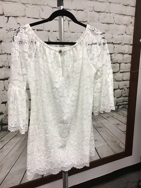 Lace Tunic With Bell Sleeves