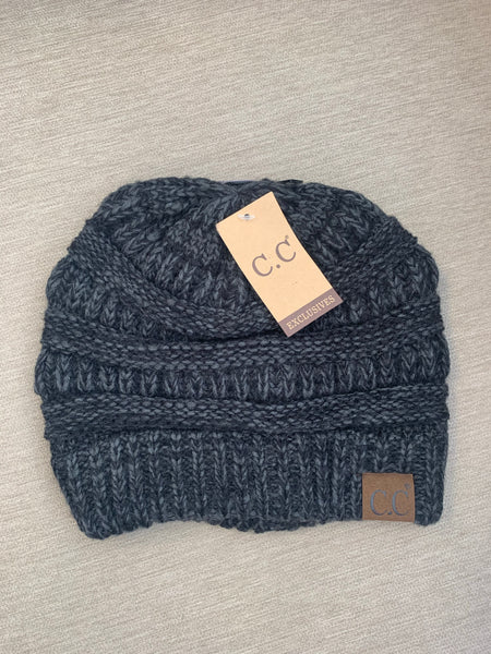 C.C Beanie Diagonal Stitch Hat