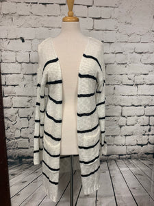 Love Tree Striped Cardigan with Pockets