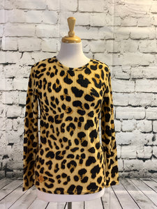 Simply Southern Waffle Top (Leopard Print)