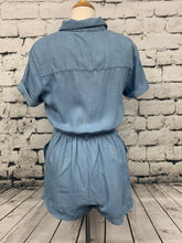 Load image into Gallery viewer, Urban Daizy Blue Zip Front Romper