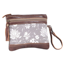 Load image into Gallery viewer, Myra Bag Petals on Grey Pouch