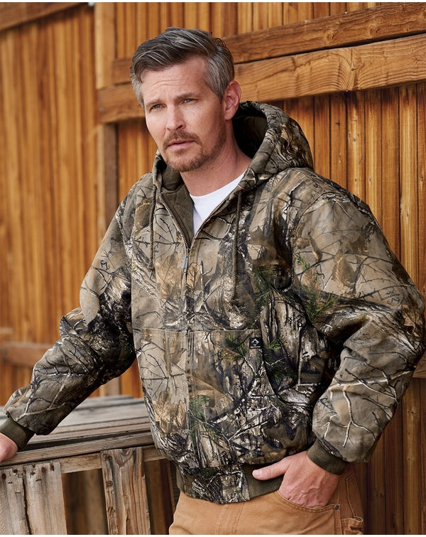 Cheyenne Boulder Cloth Hooded Jacket with Tricot Quilt Lining Tall Sizes-DRI DUCK-Pacific Brandwear