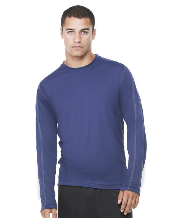 Long sleeve Pieced Interlock T-Shirt-All Sport-Pacific Brandwear