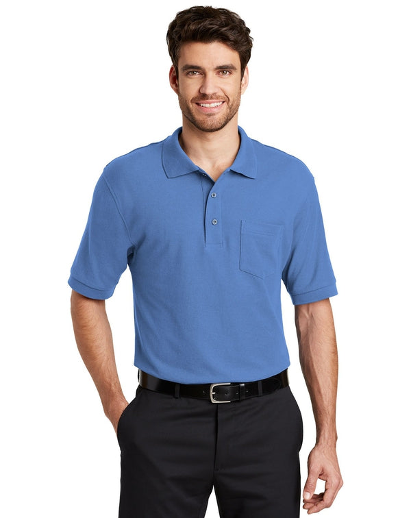 Port Authority® Silk Touch™ Polo with Pocket-Port Authority-Pacific Brandwear