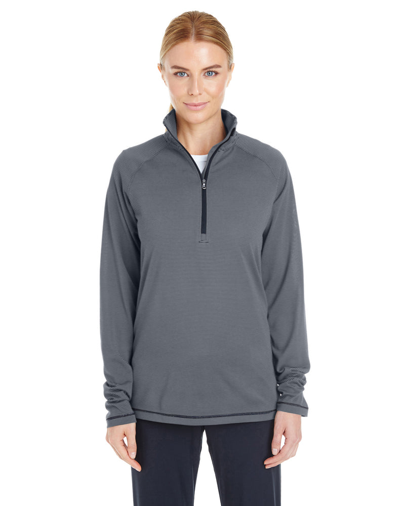Ladies' Tech Stripe Quarter Zip-Under Armour-Pacific Brandwear