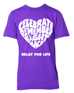 Relay for Life Remember Celebrate Fight Back T-Shirt-Pacific Brandwear-Pacific Brandwear