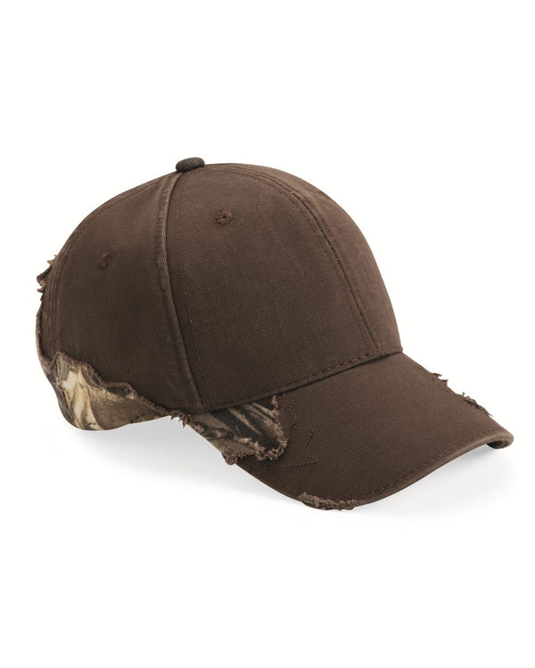 Solid-To-Camo Frayed Cap-Outdoor Cap-Pacific Brandwear