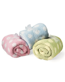Chunky Chenille Polka Dot Baby Blanket-Colorado Clothing-Pacific Brandwear