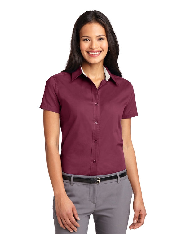 Port Authority® Ladies Short Sleeve Easy Care Shirt-Port Authority-Pacific Brandwear