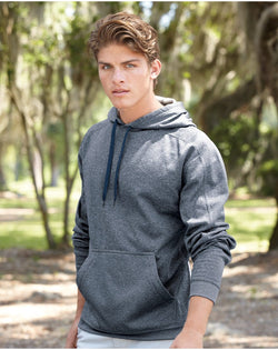 Polyester Fleece Hooded Pullover-J. America-Pacific Brandwear