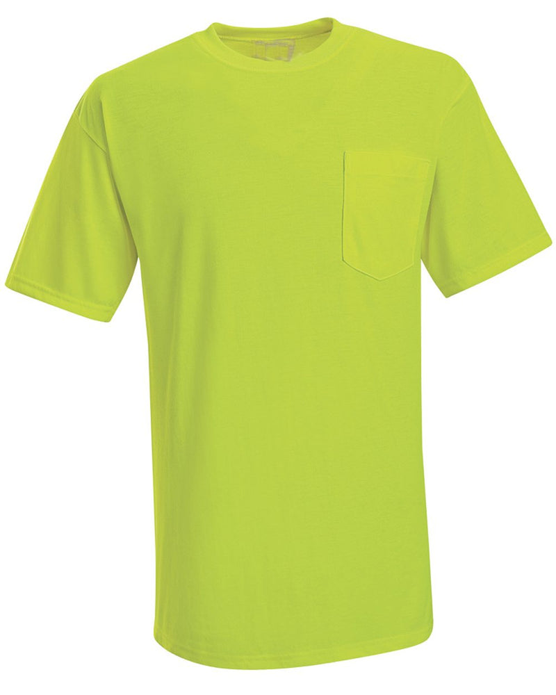 Enhanced Visibility T-Shirt with a Pocket-Red Kap-Pacific Brandwear