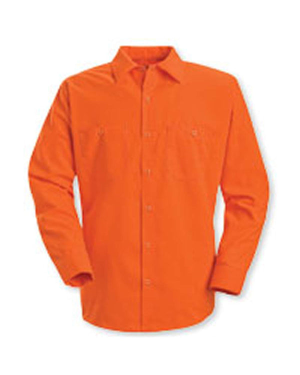 Enhanced Visibility Long sleeve Work Shirt-Red Kap-Pacific Brandwear