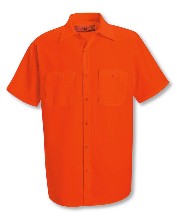 Enhanced Visibility Short sleeve Work Shirt-Red Kap-Pacific Brandwear