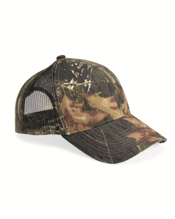 Mesh-Back Camo Cap-Outdoor Cap-Pacific Brandwear