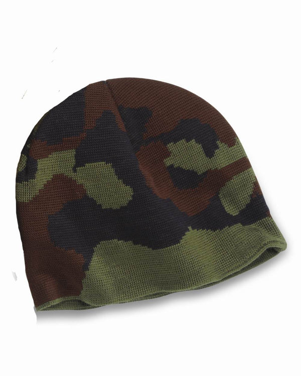 USA-Made Camouflage Knit Beanie-Bayside-Pacific Brandwear