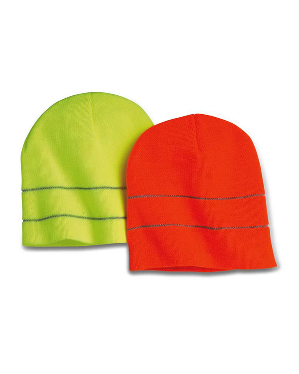 USA-Made Safety Knit Beanie with 3M Reflective Thread-Bayside-Pacific Brandwear