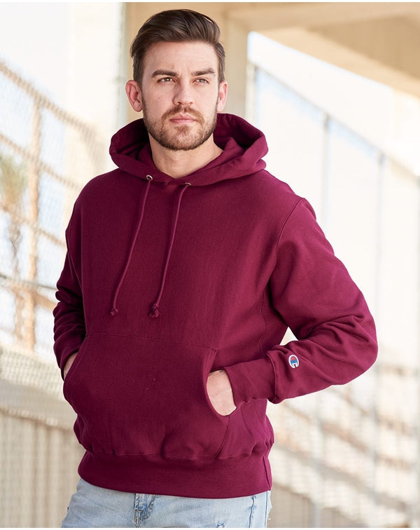 Reverse Weave Hooded Pullover Sweatshirt-Champion-Pacific Brandwear