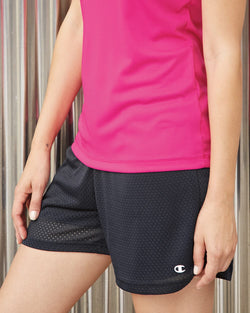 Women's Tagless Active Mesh Shorts-Champion-Pacific Brandwear