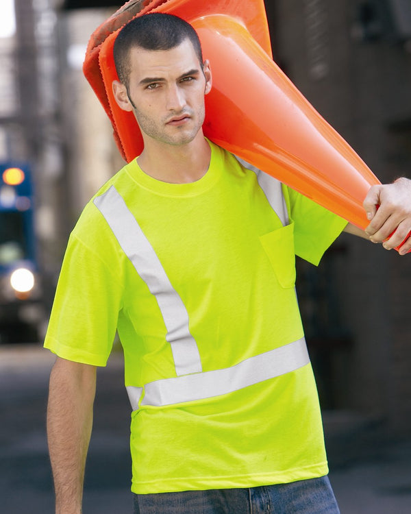 High Visibility Safety T-Shirt-Red Kap-Pacific Brandwear