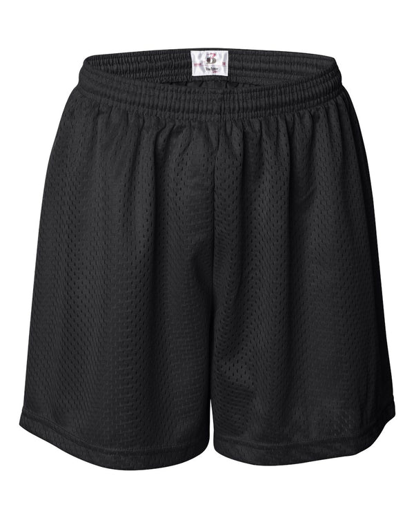 "Women's Pro Mesh 5"" Shorts with Solid Liner-Badger-Pacific Brandwear"
